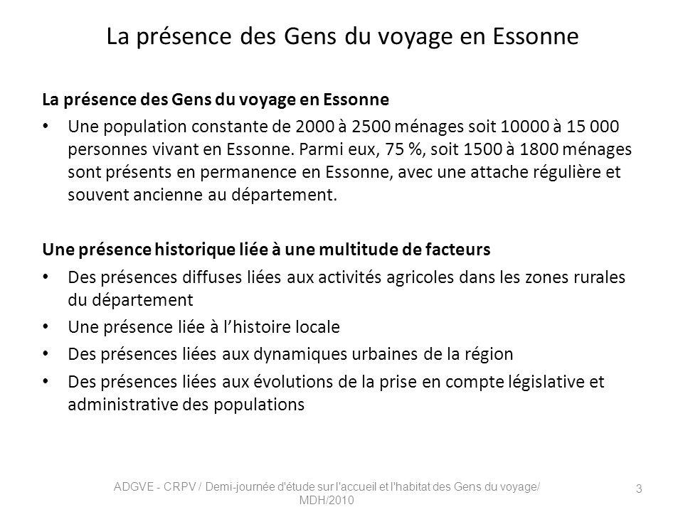 La présence des Gens du voyage en Essonne
