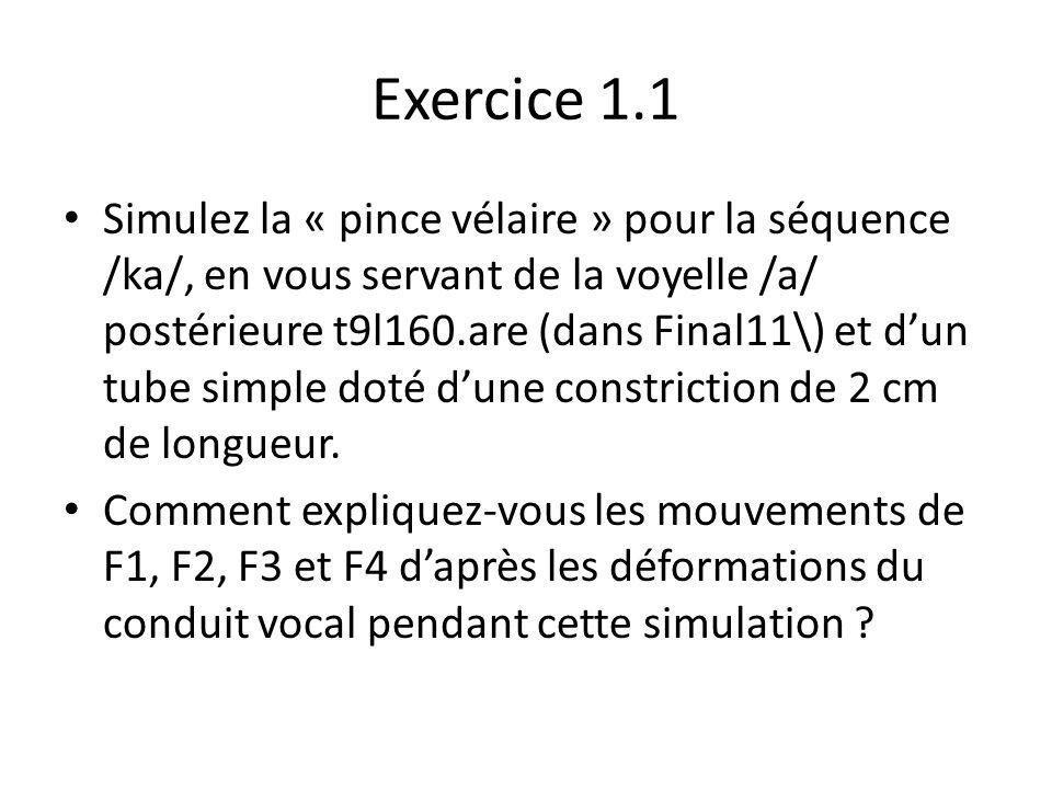 Exercice 1.1