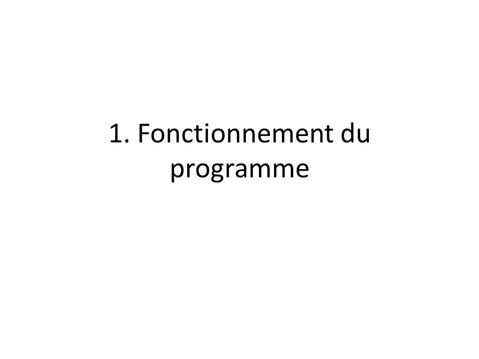 1. Fonctionnement du programme
