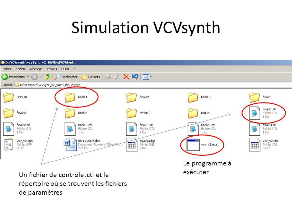 Simulation VCVsynth Le programme à exécuter