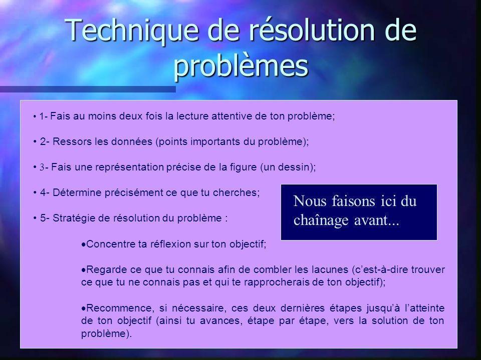 Technique de résolution de problèmes