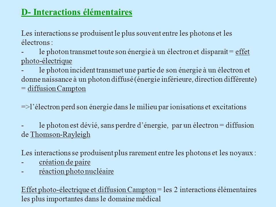 D- Interactions élémentaires