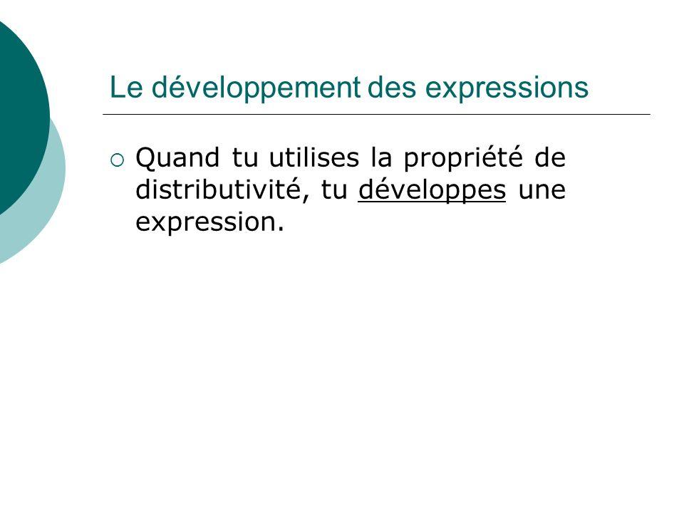 Le développement des expressions