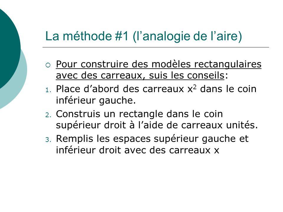 La méthode #1 (l'analogie de l'aire)