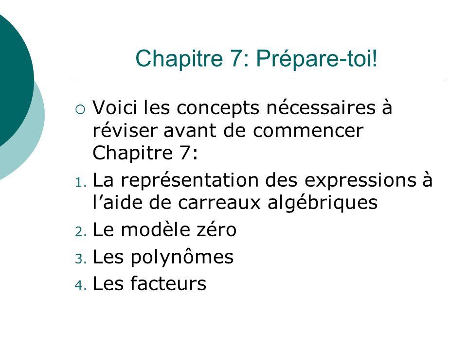 Chapitre 7: Prépare-toi!