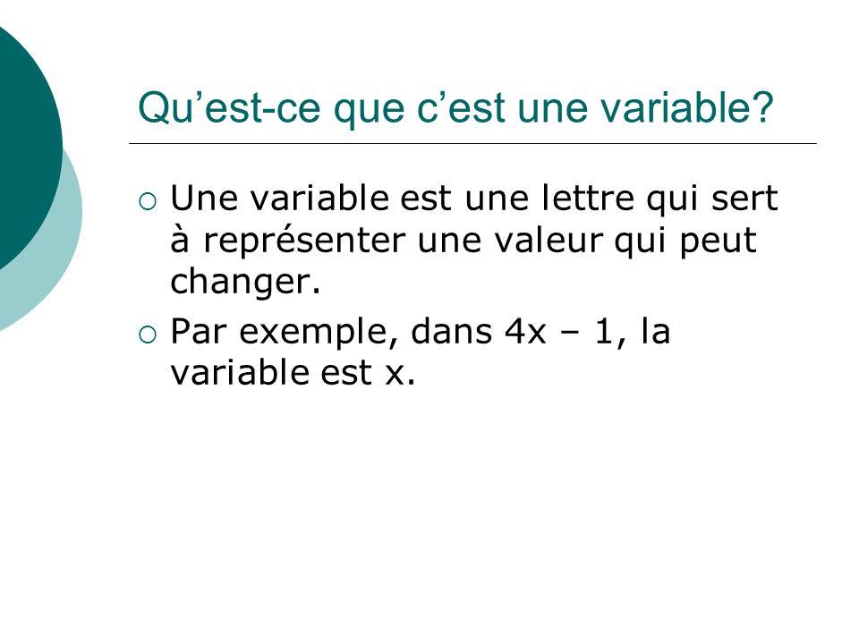 Qu'est-ce que c'est une variable