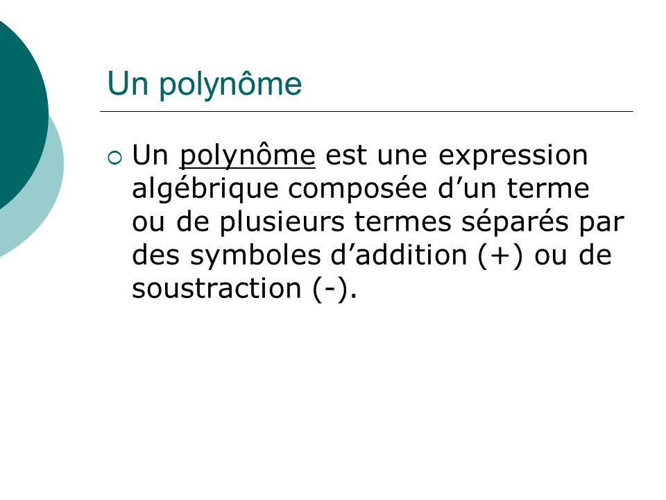 Un polynôme