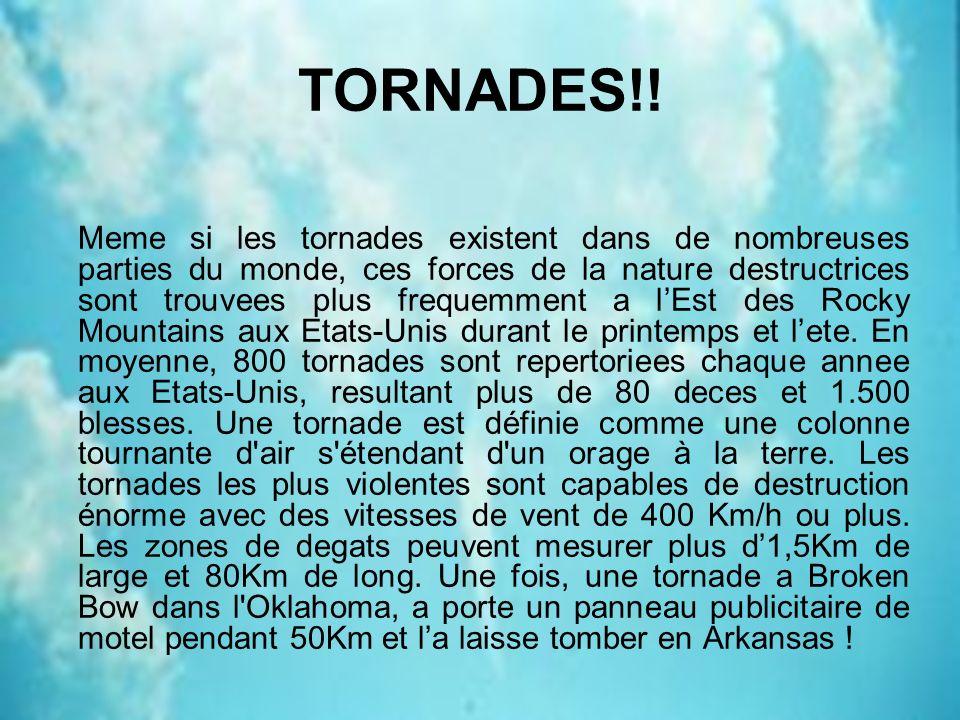 TORNADES!!
