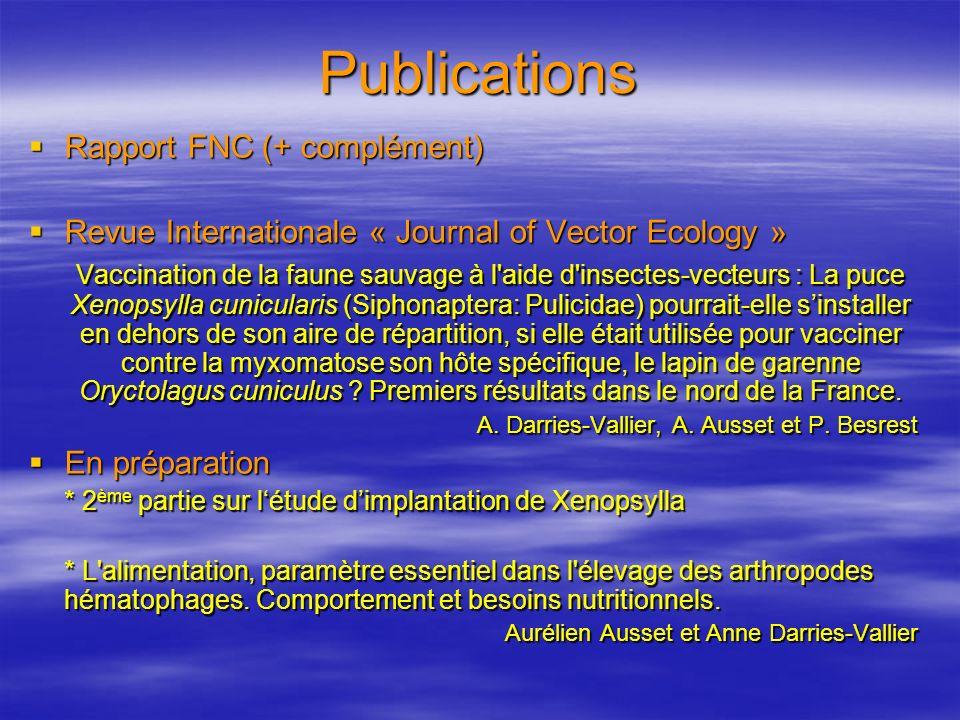 Publications Rapport FNC (+ complément)
