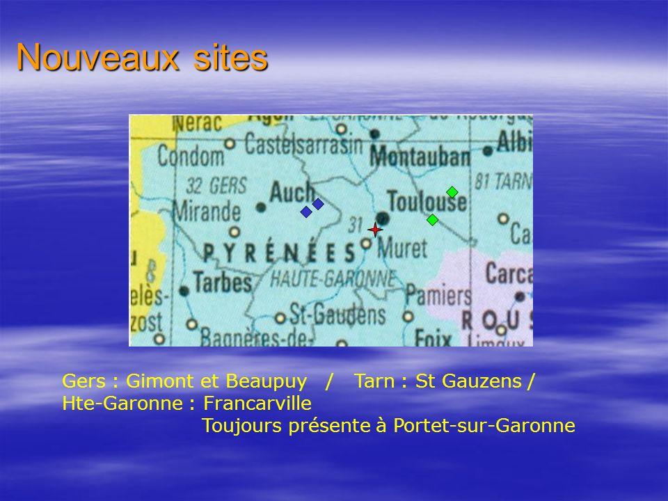 Nouveaux sites Gers : Gimont et Beaupuy / Tarn : St Gauzens /