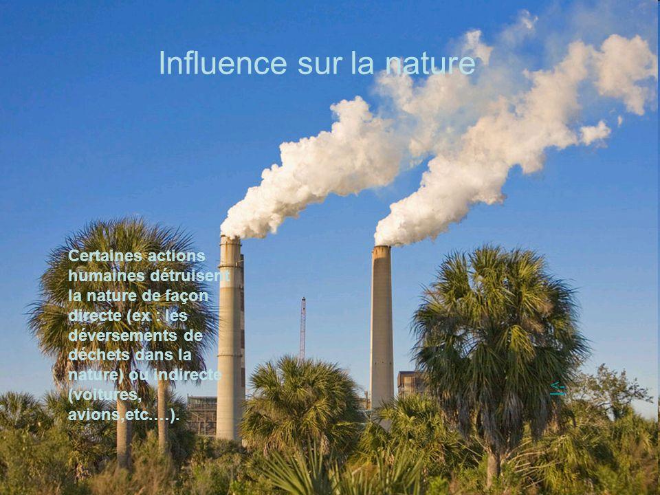 Influence sur la nature