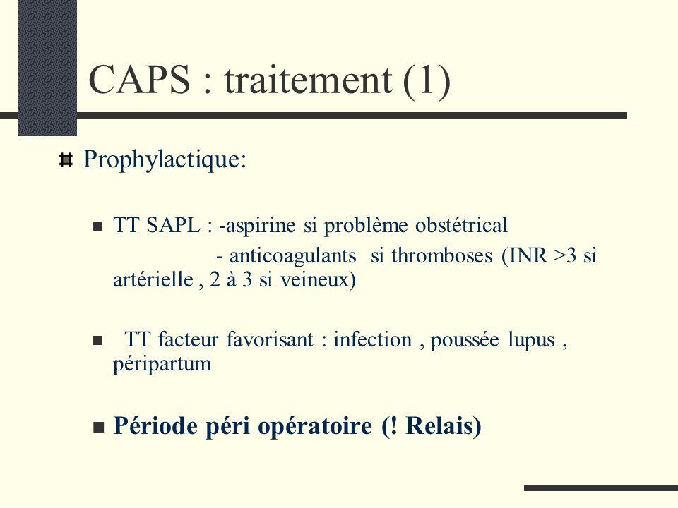CAPS : traitement (1) Prophylactique:
