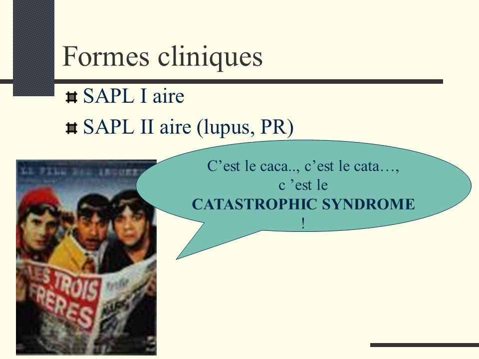 Formes cliniques SAPL I aire SAPL II aire (lupus, PR)