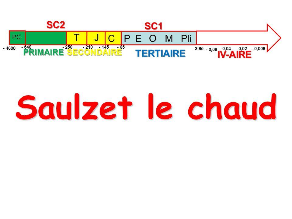 Saulzet le chaud TERTIAIRE IV-AIRE T J C SC1 SC2 P E O M Pli PRIMAIRE