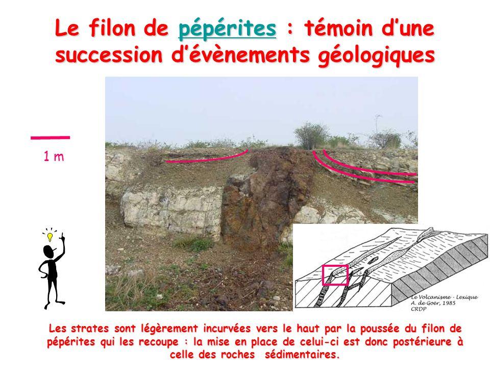 Le filon de pépérites : témoin d'une succession d'évènements géologiques