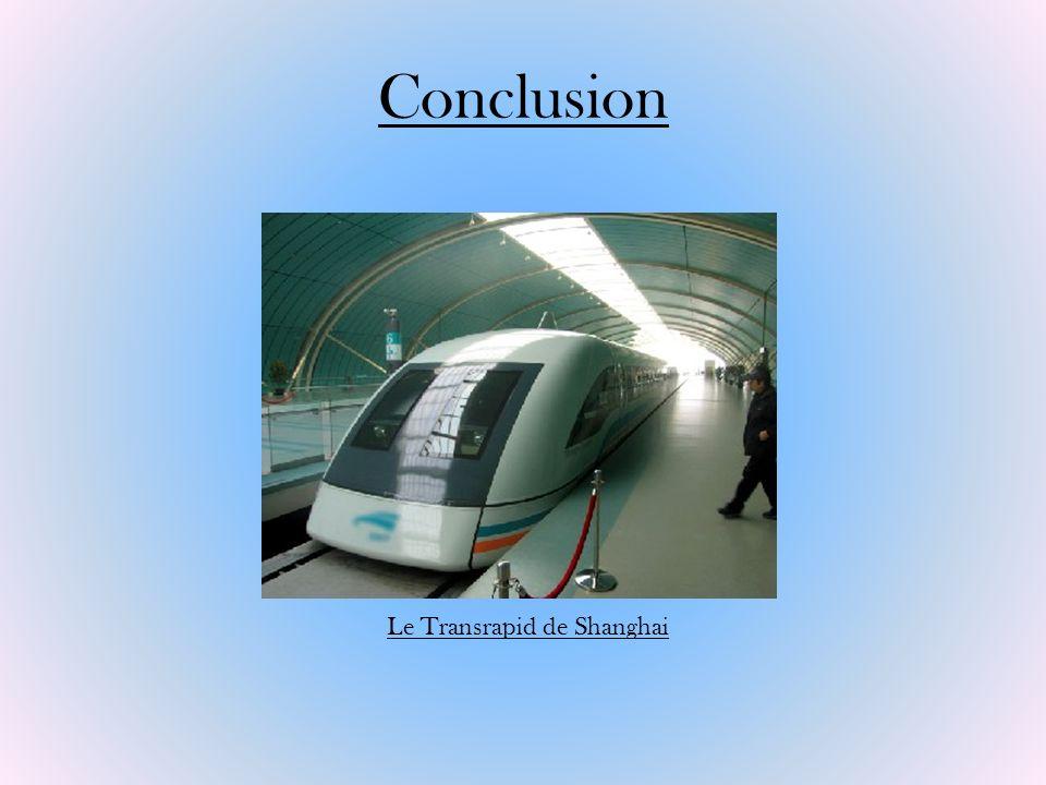Conclusion Le Transrapid de Shanghai