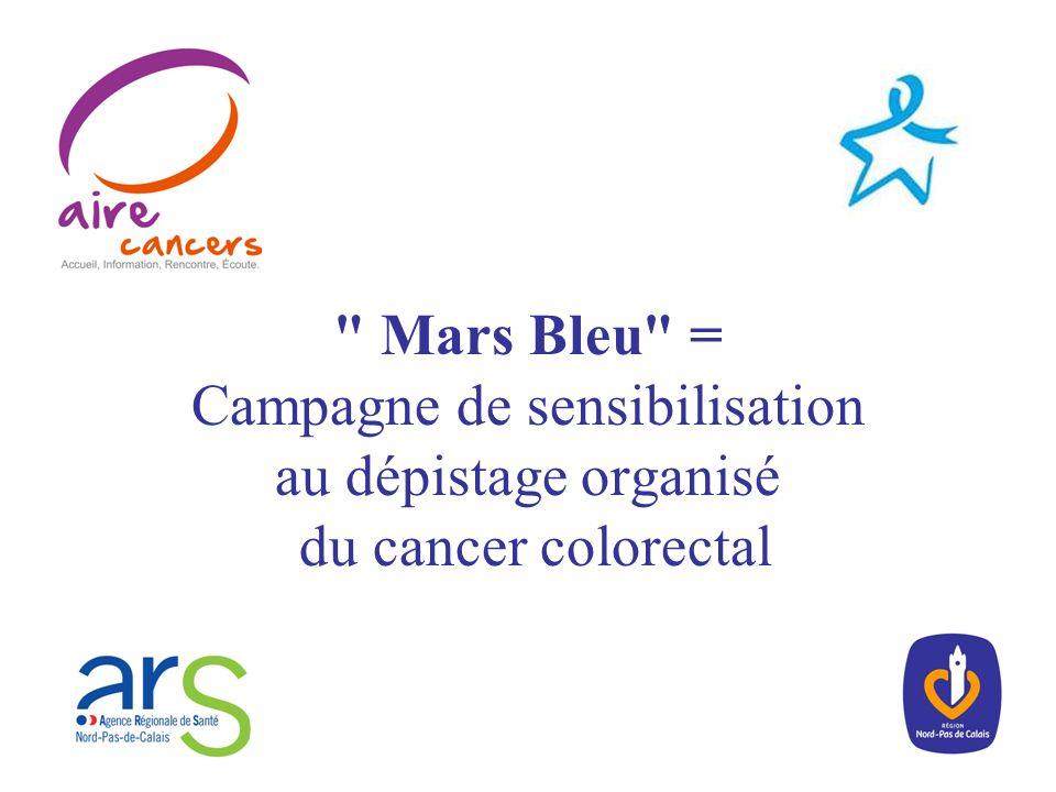 Mars Bleu = Campagne de sensibilisation au dépistage organisé du cancer colorectal