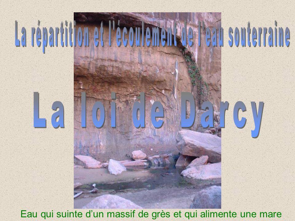 La répartition et l écoulement de l eau souterraine