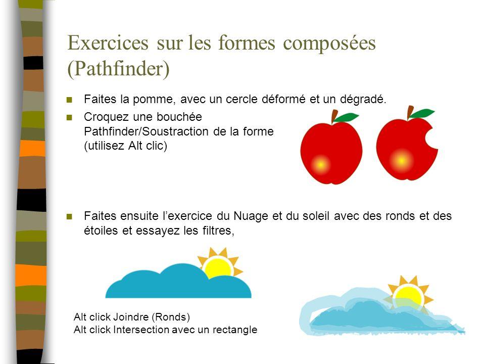 Exercices sur les formes composées (Pathfinder)