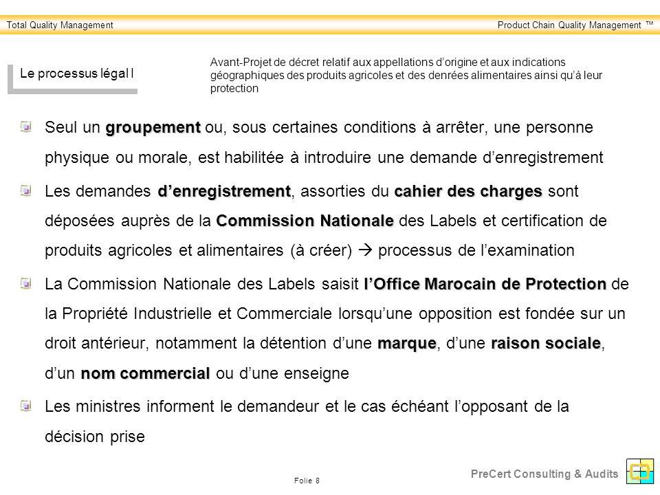 Avant-Projet de décret relatif aux appellations d'origine et aux indications géographiques des produits agricoles et des denrées alimentaires ainsi qu'à leur protection