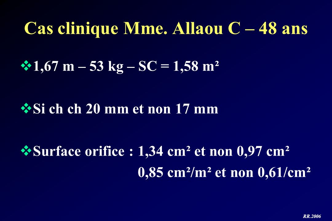Cas clinique Mme. Allaou C – 48 ans