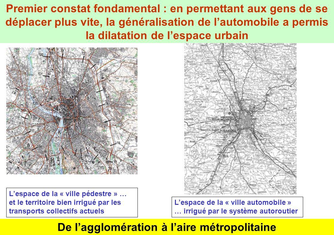 De l'agglomération à l'aire métropolitaine