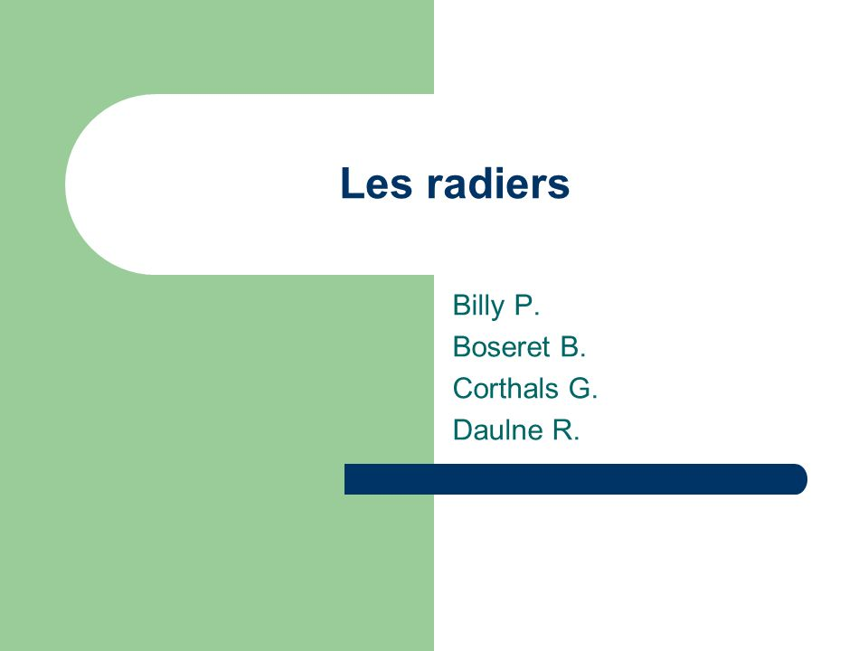 Billy P. Boseret B. Corthals G. Daulne R.