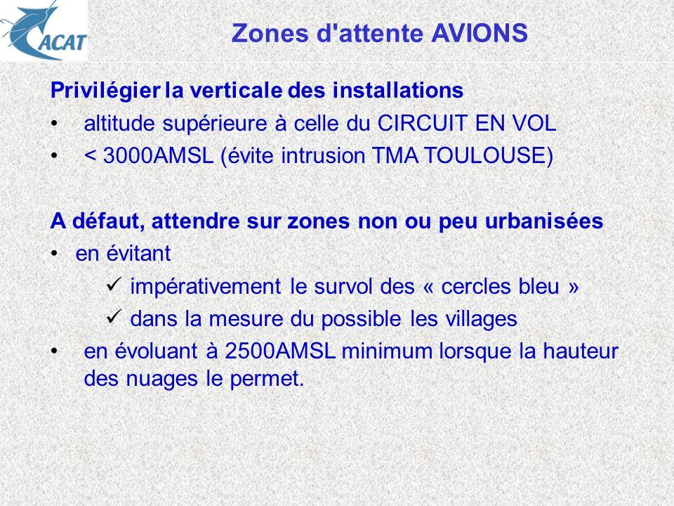 Zones d attente AVIONS Privilégier la verticale des installations