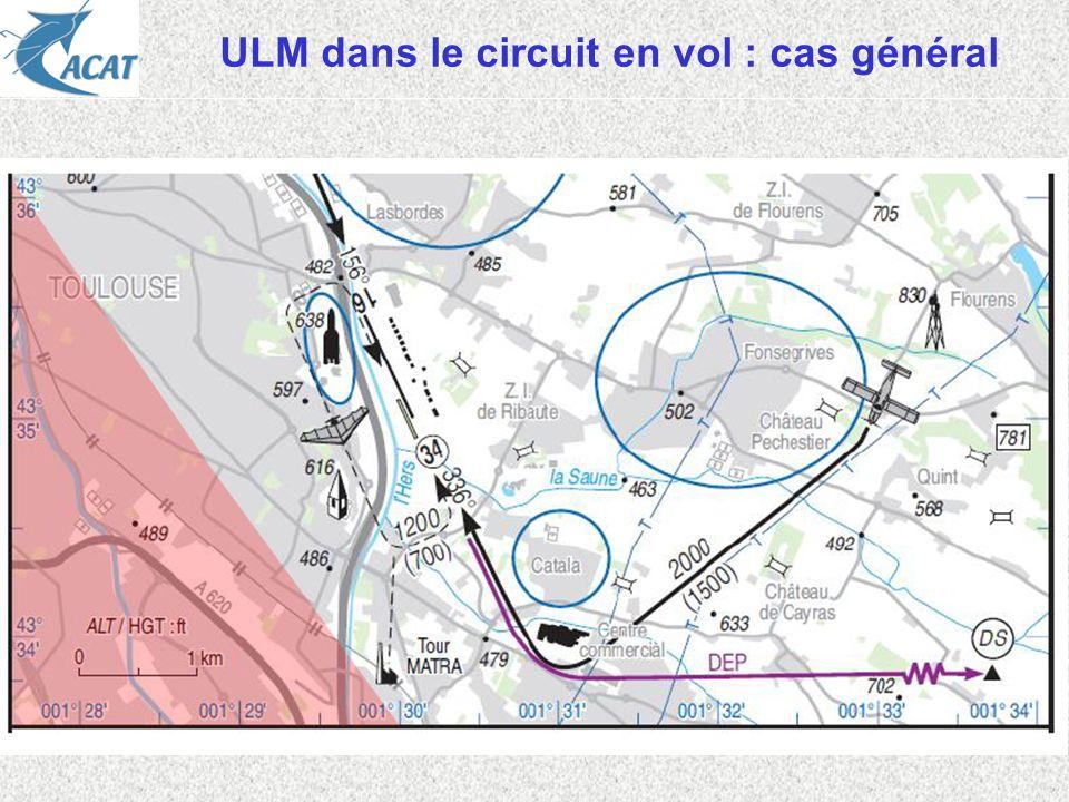 ULM dans le circuit en vol : cas général