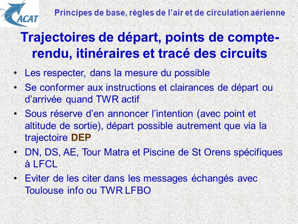 Principes de base, règles de l'air et de circulation aérienne