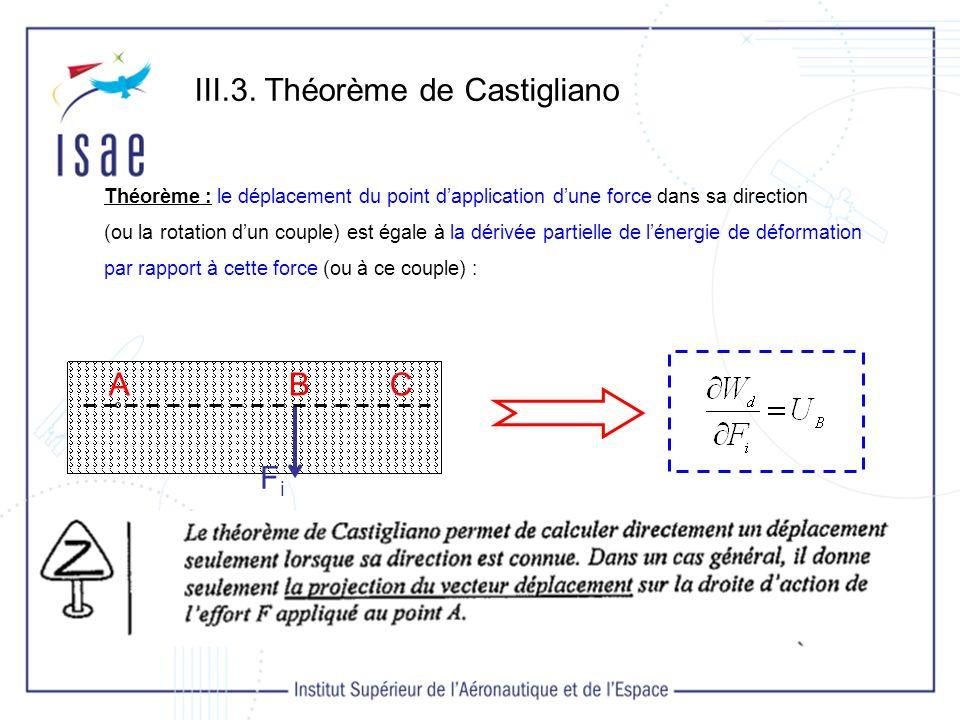 III.3. Théorème de Castigliano