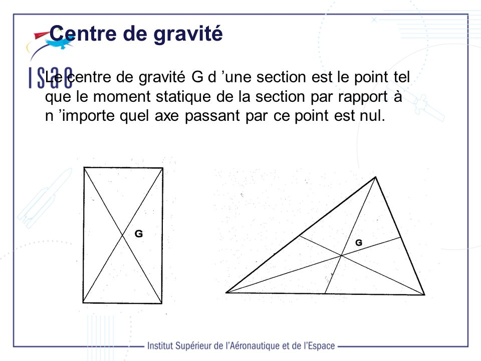 Centre de gravité