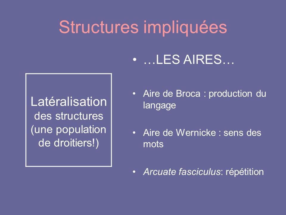 Structures impliquées