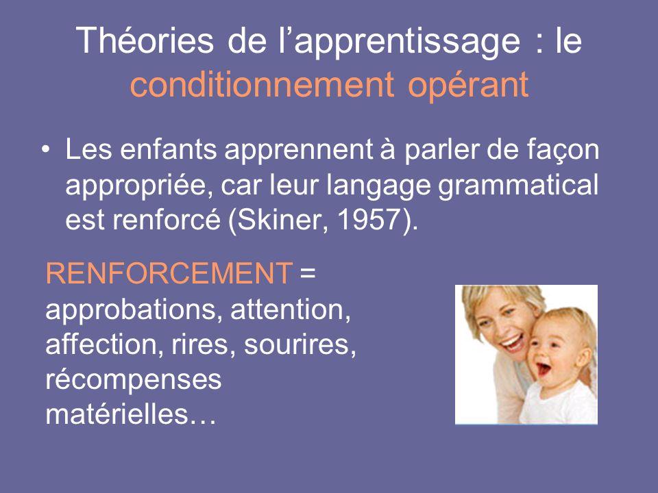 Théories de l'apprentissage : le conditionnement opérant
