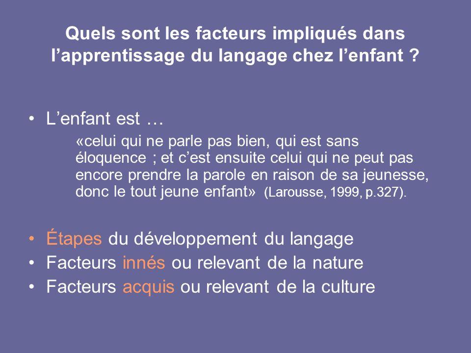 Étapes du développement du langage