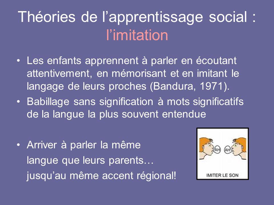 Théories de l'apprentissage social : l'imitation