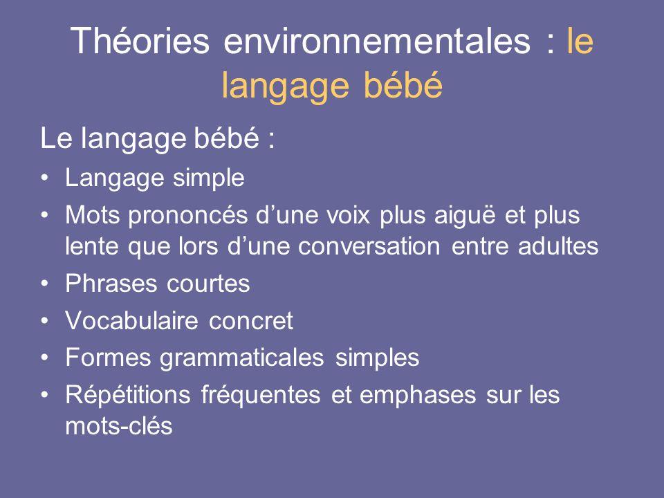 Théories environnementales : le langage bébé