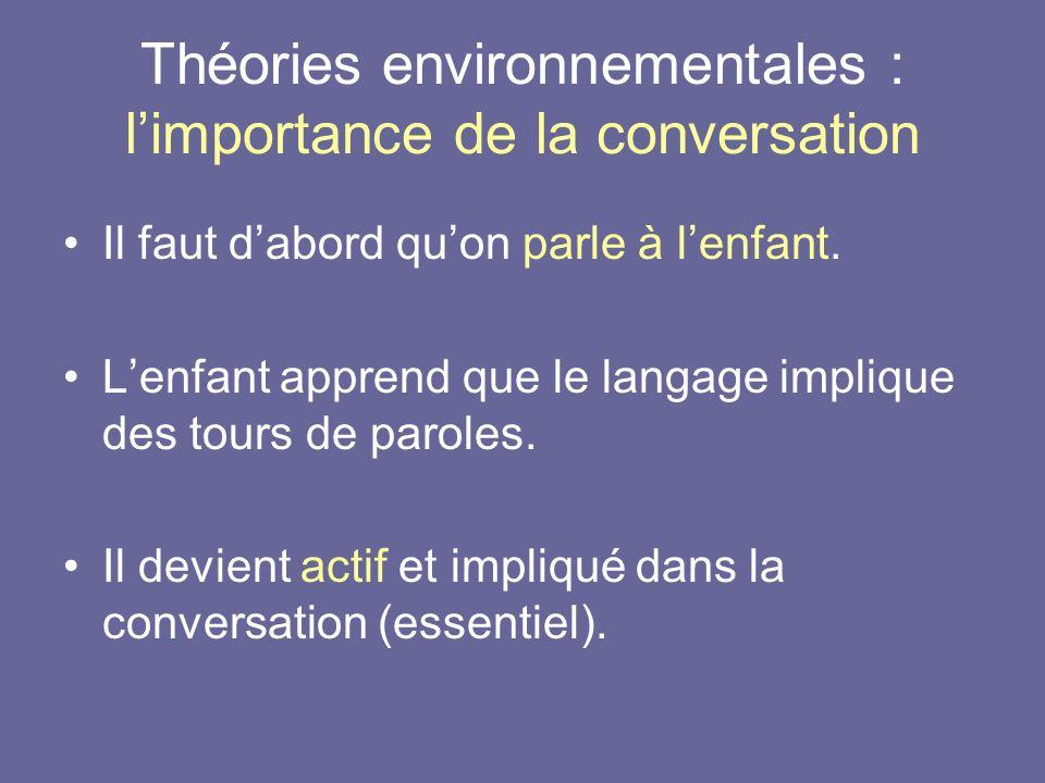 Théories environnementales : l'importance de la conversation
