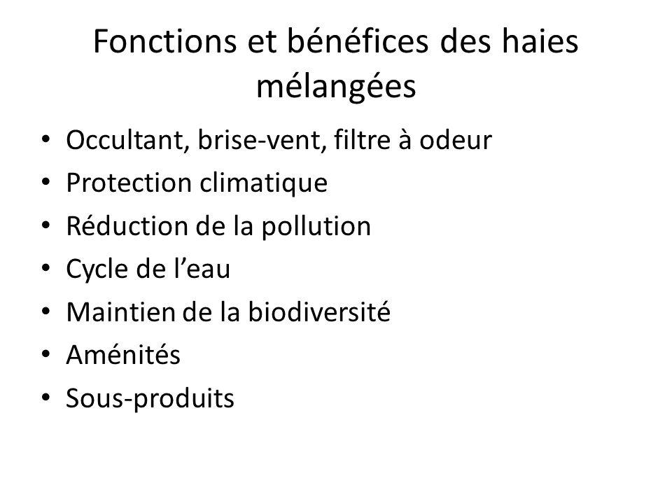 Fonctions et bénéfices des haies mélangées