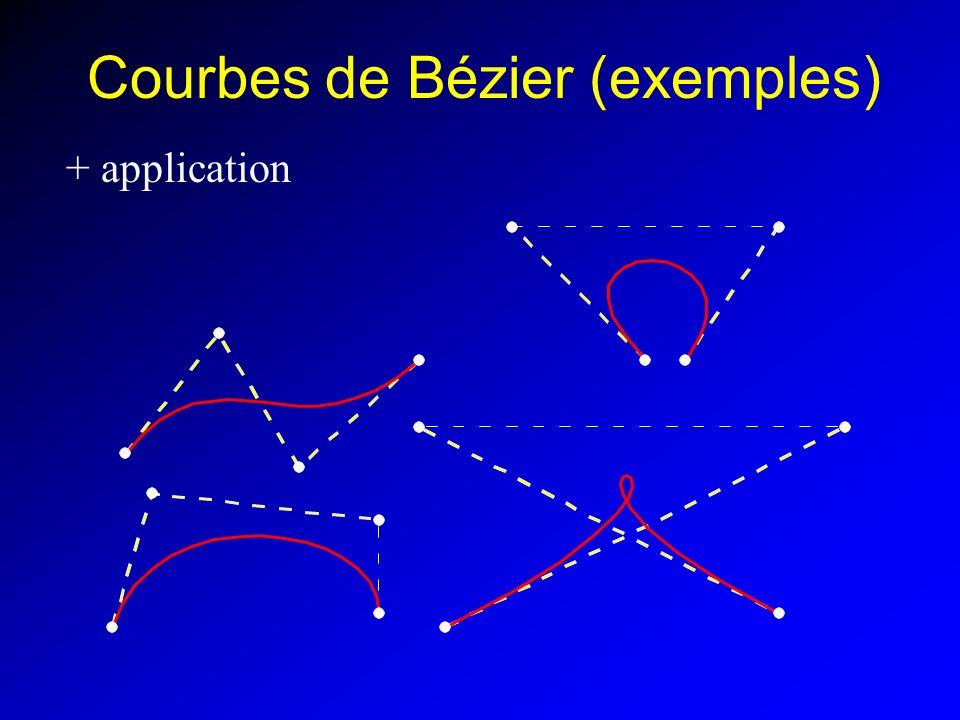 Courbes de Bézier (exemples)