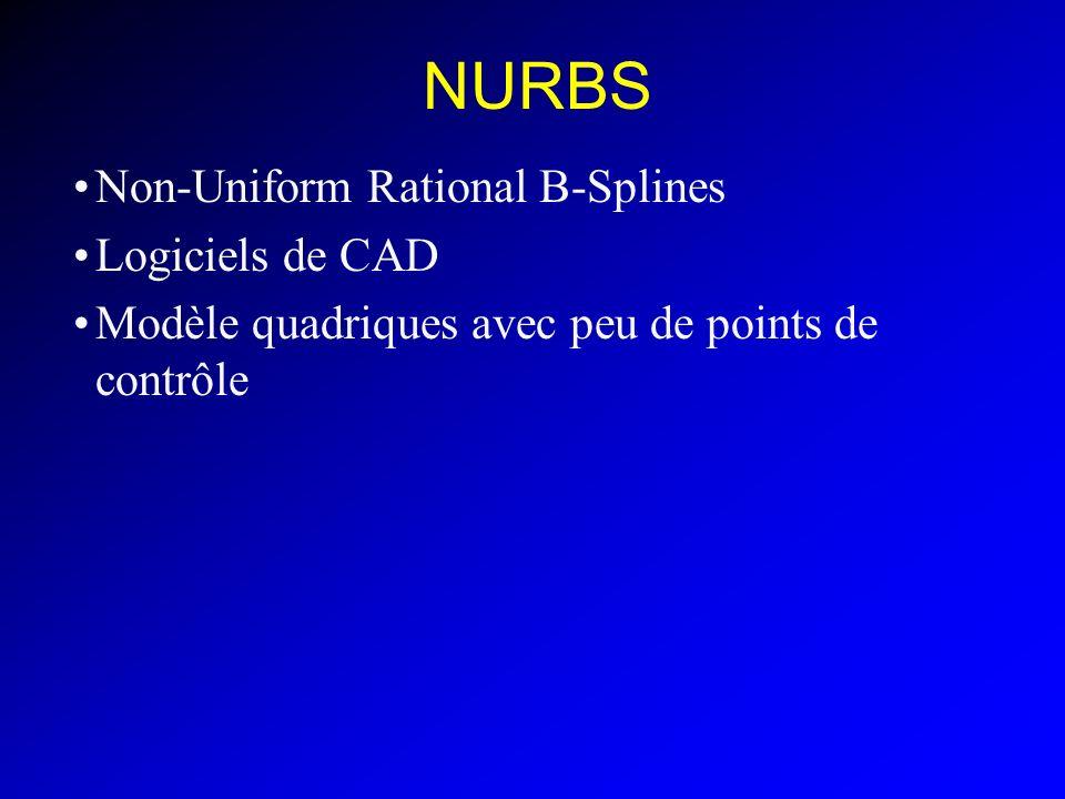 NURBS Non-Uniform Rational B-Splines Logiciels de CAD