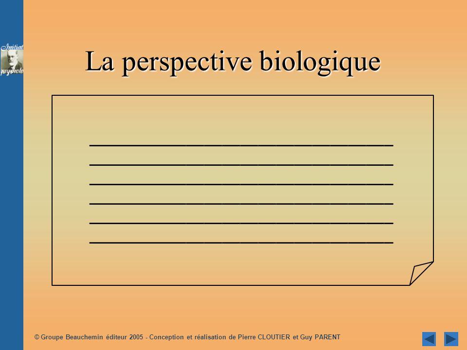 La perspective biologique