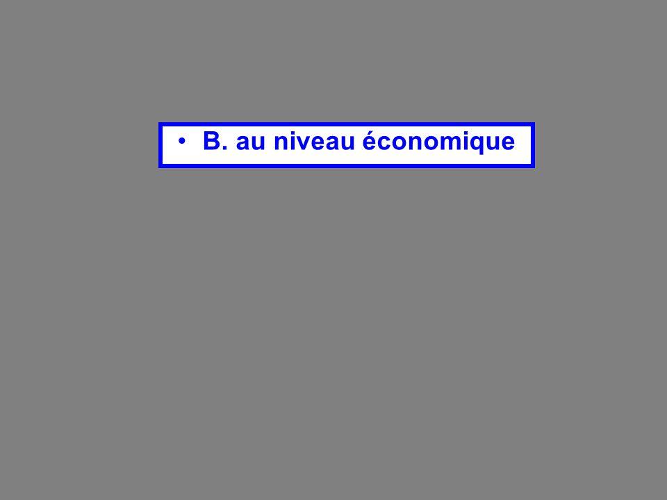 B. au niveau économique