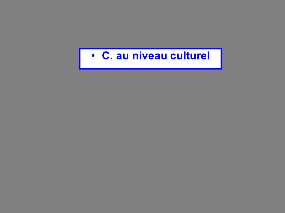 C. au niveau culturel