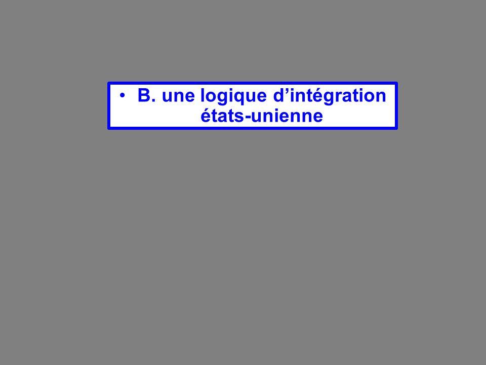 B. une logique d'intégration états-unienne