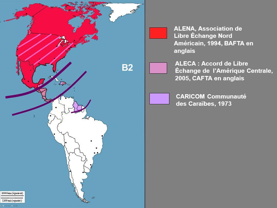 ALENA, Association de Libre Échange Nord Américain, 1994, BAFTA en anglais