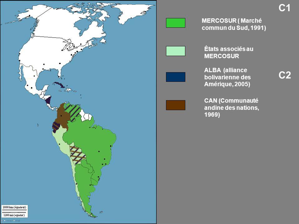 C1 C2 MERCOSUR ( Marché commun du Sud, 1991)