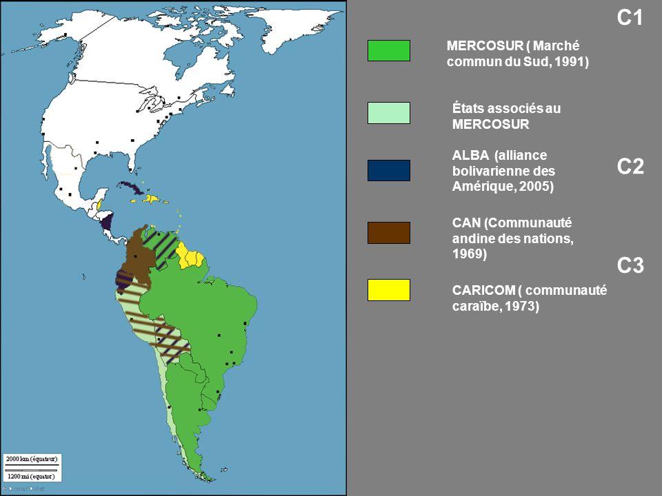 C1 C2 C3 MERCOSUR ( Marché commun du Sud, 1991)