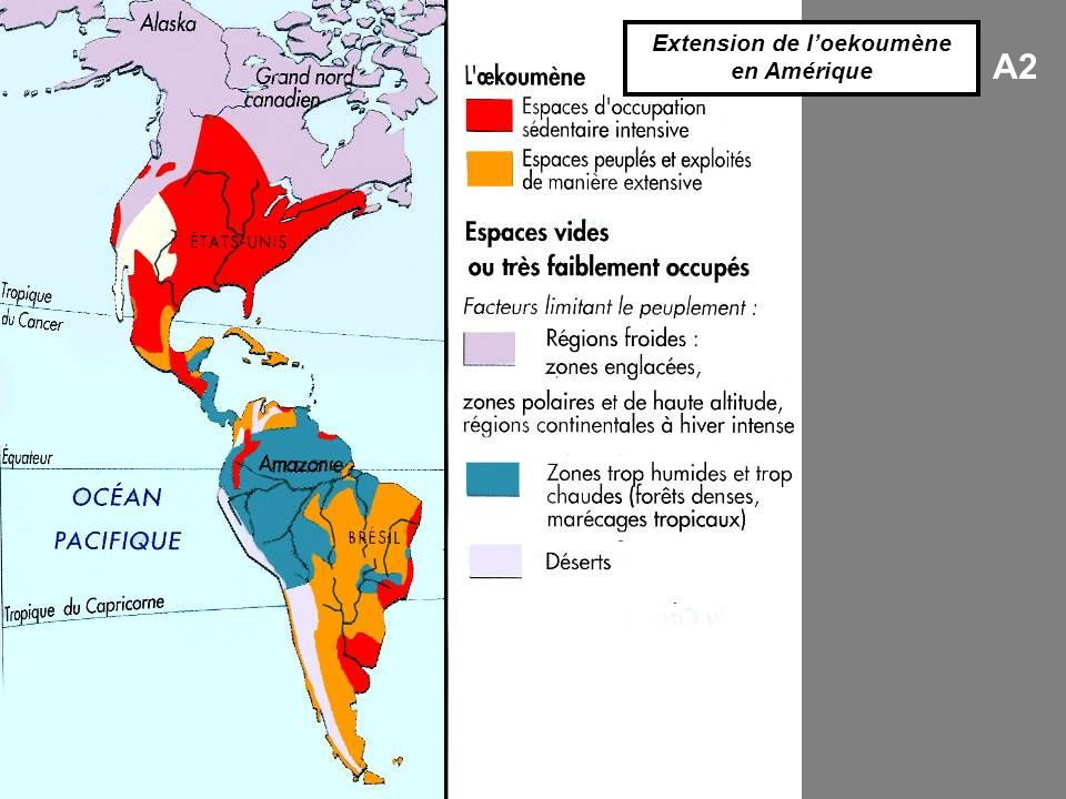 Extension de l'oekoumène en Amérique