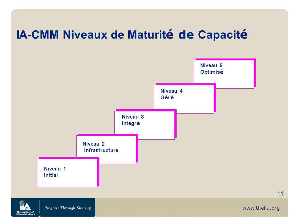 IA-CMM Niveaux de Maturité de Capacité
